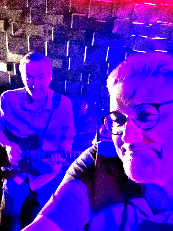 Jay EuDaly & Mark Valentine recording session at Unlabeled Music