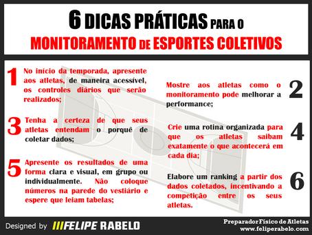 Monitoramento de Esportes Coletivos - 6 Dicas Práticas