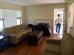 Homewood Installed new Hardwood floors and Painted Living room