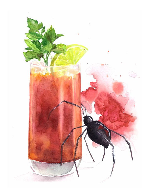 """""""Bloody Mary cocktail"""" art print"""