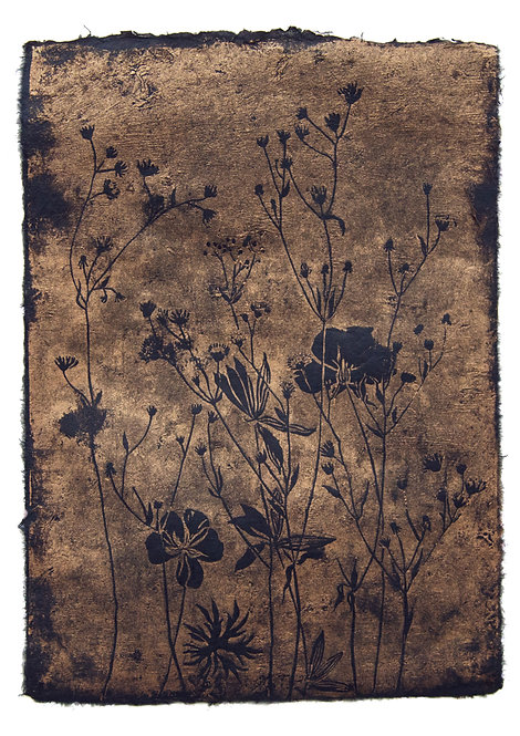 Summer Meadow, original lino print