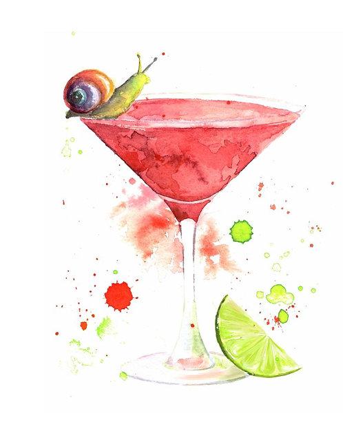 """""""Cosmopolitan cocktail"""" art print"""