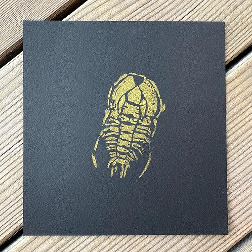 Fossils, original lino print