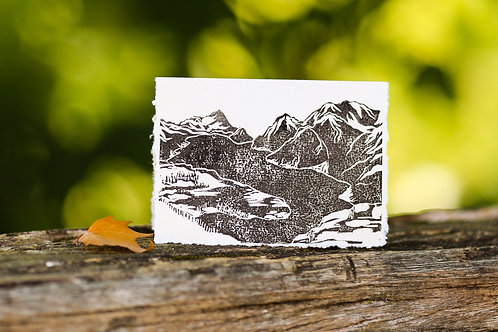 From the top of Stoos, a greeting card and a piece of art in one.