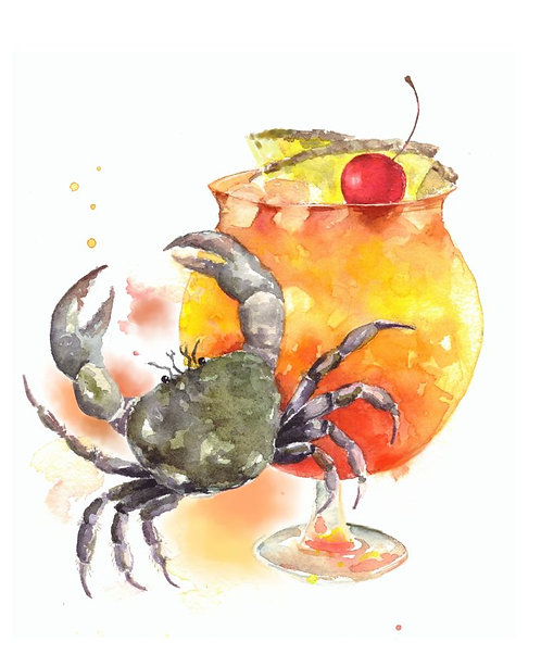 """""""Mai Tai cocktail"""" art print"""
