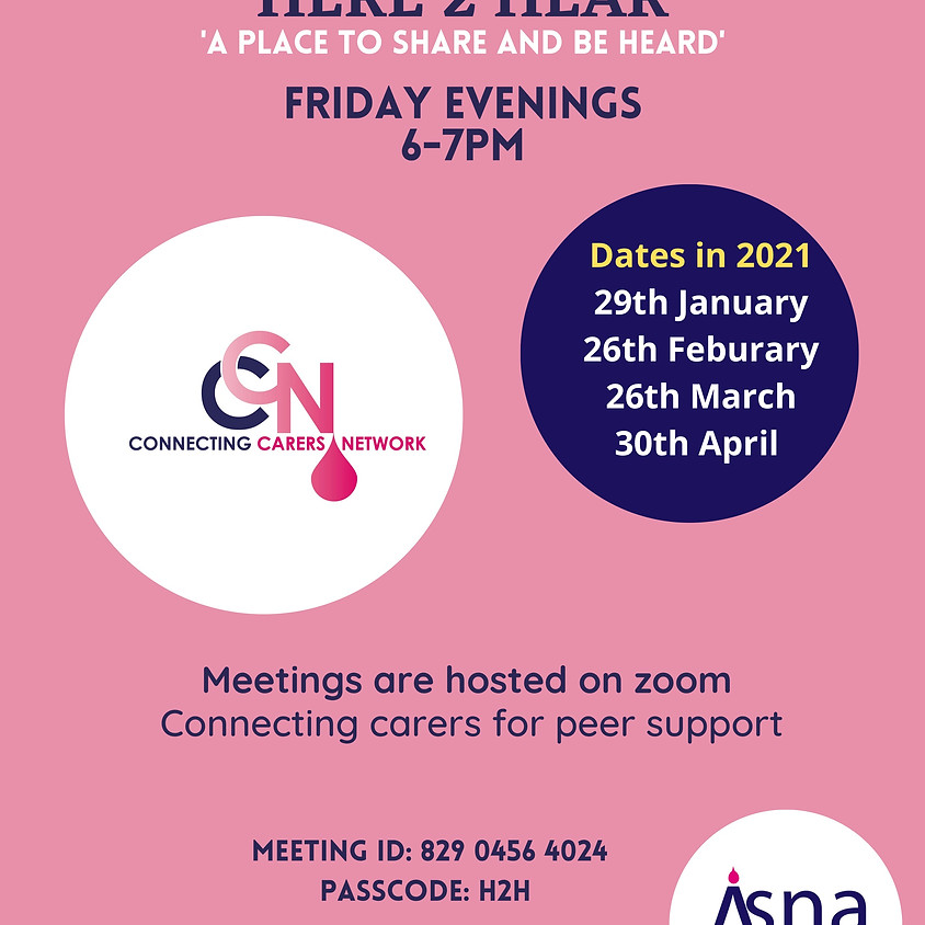 Connecting Carers Network: Here to Hear