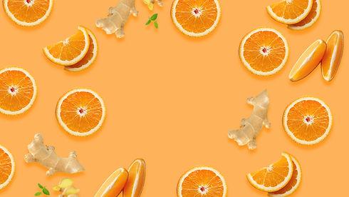 Orange and ginger natural vegan jelly