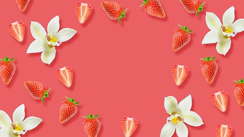 Strawberry and vanilla plant based jelly