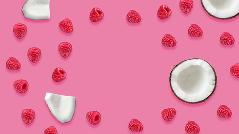 Rasperberry and coconut natural jelly