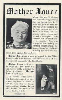 Belleville miner's tribute to Mother Jones