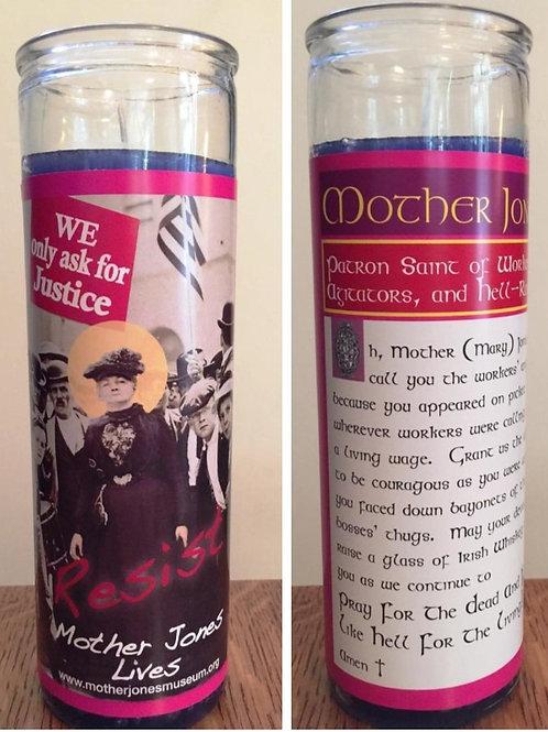 Mother Jones Secular Saint Candle