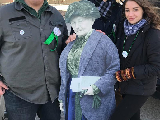 Mother Jones in 2019 St. Patrick's Day Parade