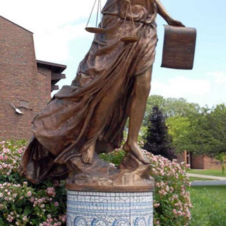 Justice Statue by Kathleen Farrell