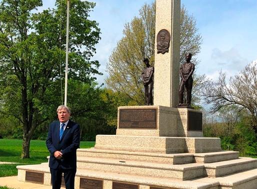 Ireland's Ambassador Visits Mother Jones Monument