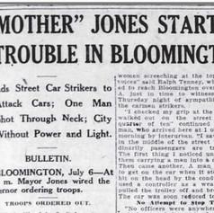 Mother Jones & 1917 Bloomington  streetcar strike