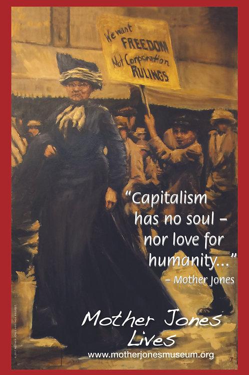 Poster - Lindsay Hand Art, Capitalism Has no Soul