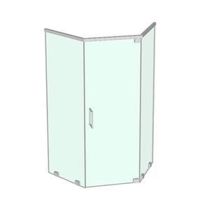 Neo-angle shower enclosure