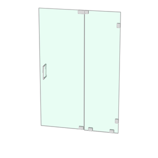 Venus shower enclosure with door hinged of the panel
