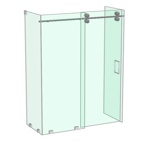 Athena shower enclosure with two return panels