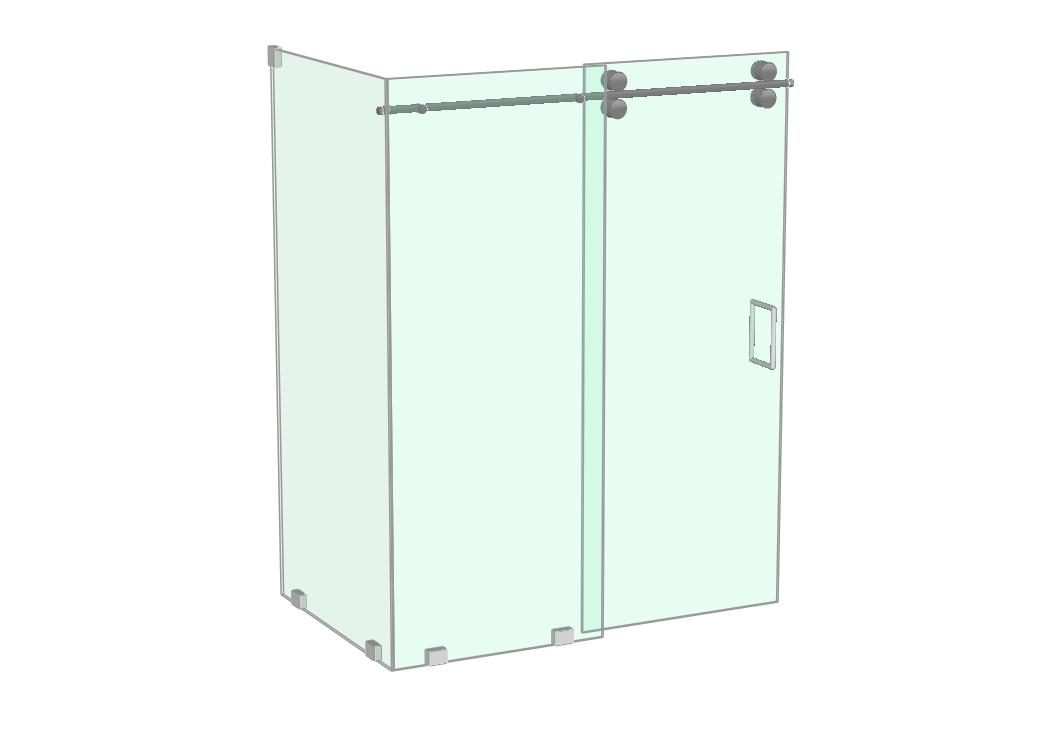 Athena shower with return panel