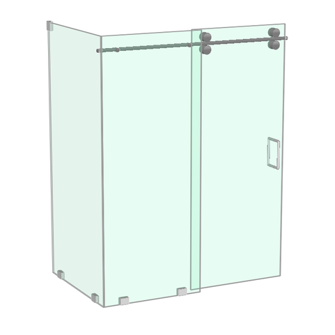 Athena shower with return panel