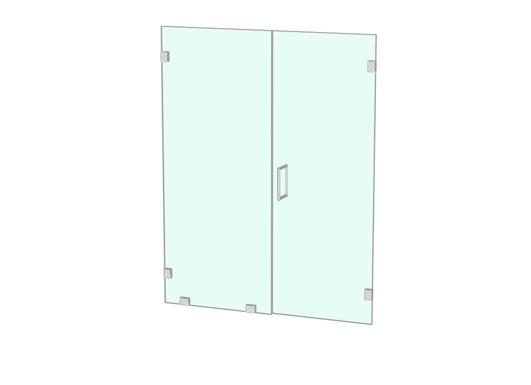 Shower door and fixed panel