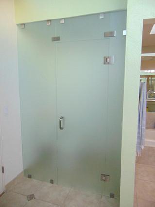 Toilet partition in bathroom