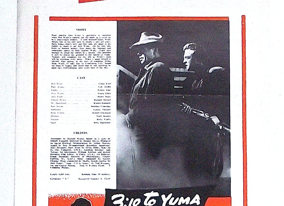 3:10 To Yuma Western Film Starring Glenn Ford Columbia Campaign Book 1957