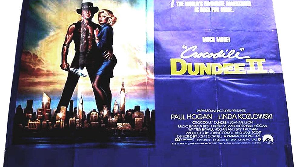Crocodile Dundee 2 British Quad Film Poster 1988