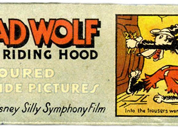 Walt Disney Big Bad Wolf Lantern Slides circa 1930's
