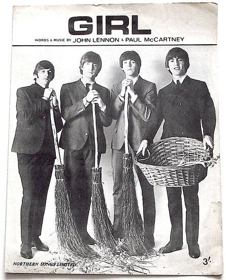 The Beatles Girl Sheet Music 1965