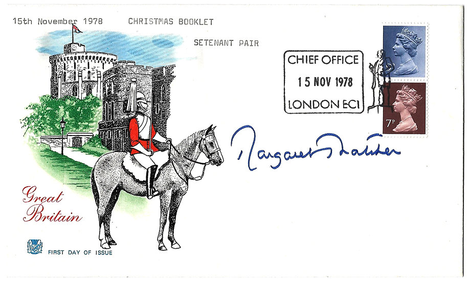 Margaret Thatcher Autograph on a Great Britain FDC 1978