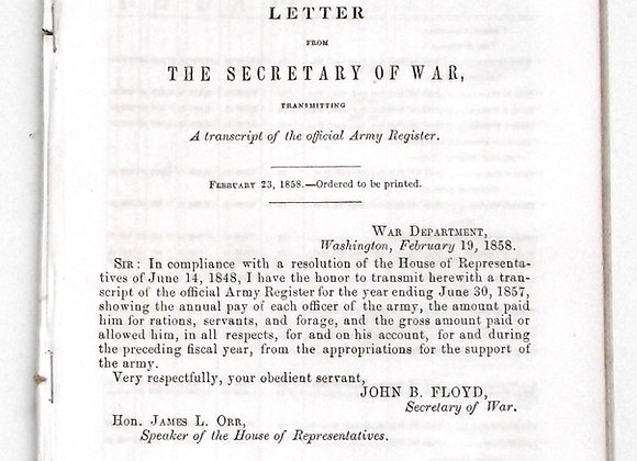 U.S. Army Register 1858