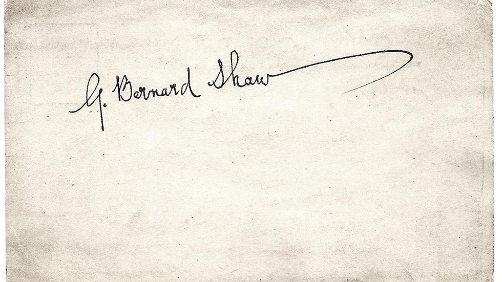 George Bernard Shaw Autograph on a Plain Postcard