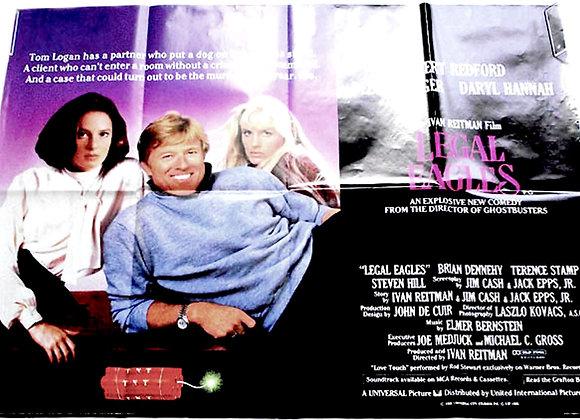 Legal Eagles British Quad Film Poster 1986