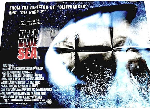 Deep Blue Sea British Quad Film Poster 1999