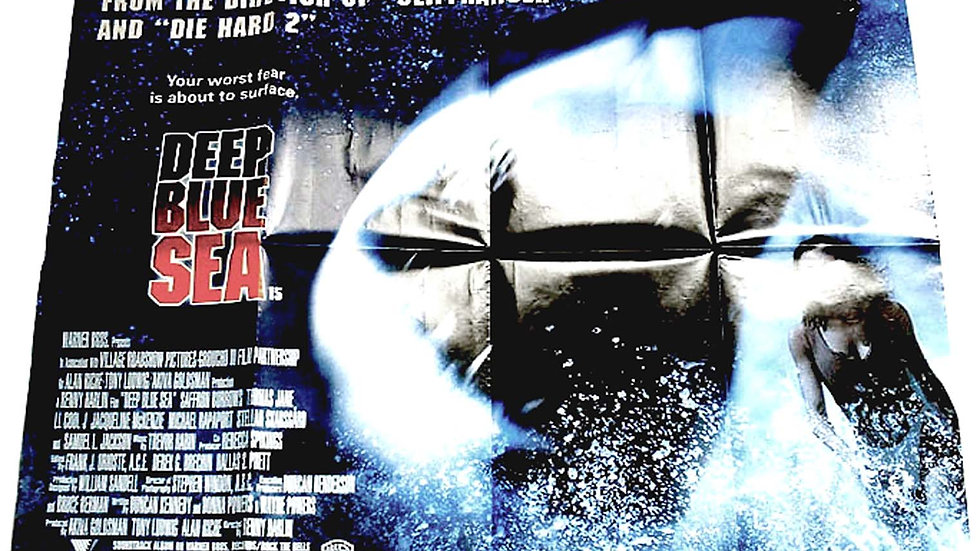 Samuel L. Jackson Deep Blue Sea British Quad Film Poster 1999