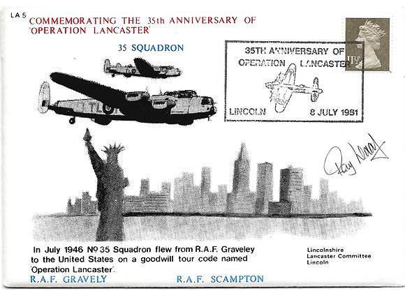 Operation Lancaster 35th Anniversary Signed Limited Edition Cover 1981