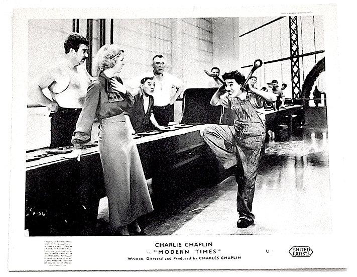 Charlie Chaplin Modern Times Film Window Cards 1936