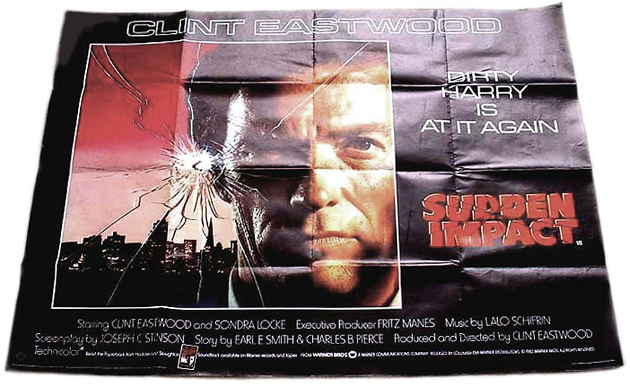 Clint Eastwood Sudden Impact British Quad Film Poster 1983