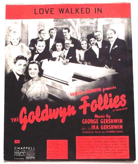 George and Ira Gershwin The Goldwyn Follies Sheet Music 1938