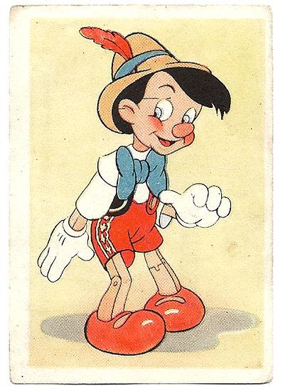 De Beukelaer Walt Disney Pinocchio Complete Set of 125 Trading Cards 1940