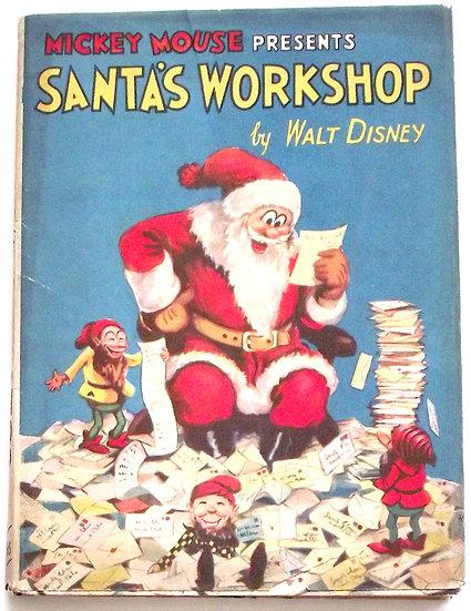Walt Disney Mickey Mouse Presents Santa's Workshop First Edition circa 1934