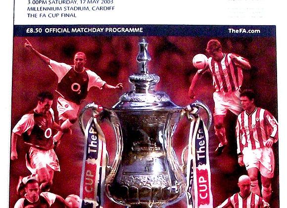 Arsenal F.C. v Southampton F.C. FA Cup Final Football Programme 2003