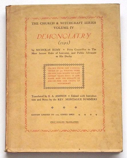 Demonolatry by Nicholas Remy Limited Edition 1930