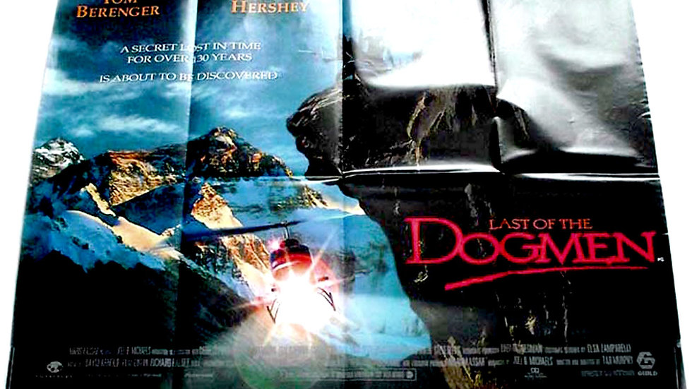 Last of the Dogmen British Quad Western Film Poster 1995