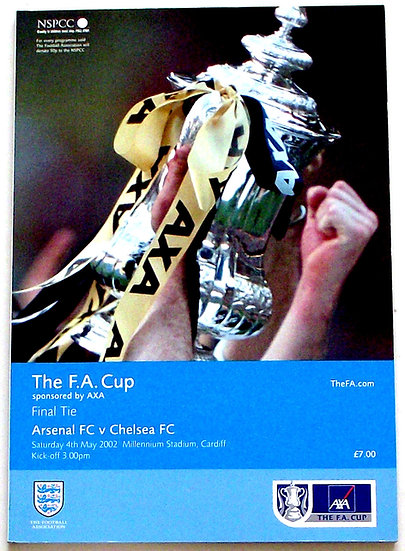 Arsenal F.C. v Chelsea F.C. FA Cup Final Football Programme 2002