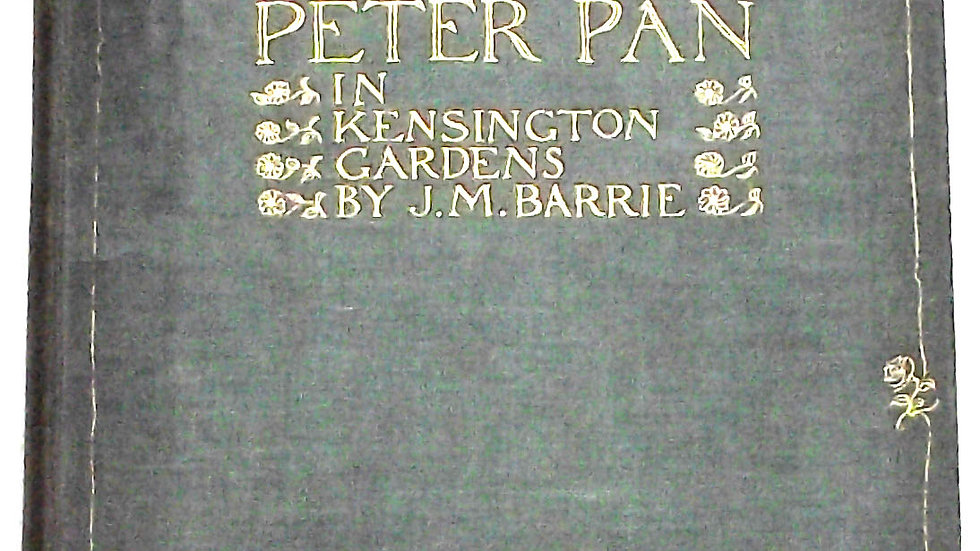 Arthur Rackham Peter Pan In Kensington Gardens 50 Colour Plates 1912 Front Board