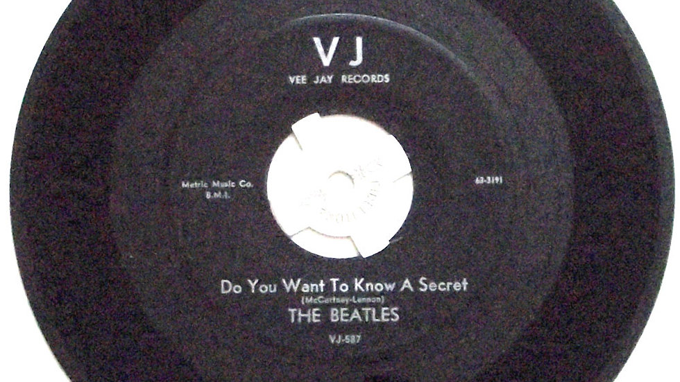 The Beatles Do You Want To Know A Secret & Thank You Girl Vee Jay VJ-587 1964