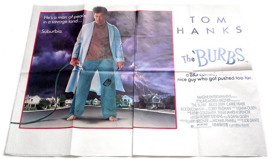 Tom Hanks The Burbs Film Poster 1989